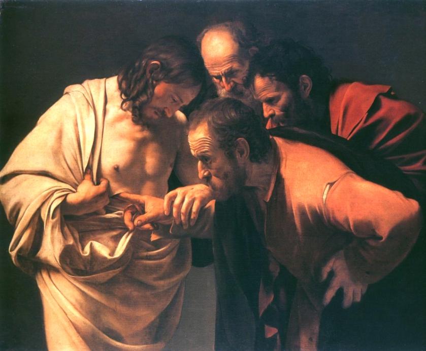 Caravaggio DoubtingThomas 1602-3