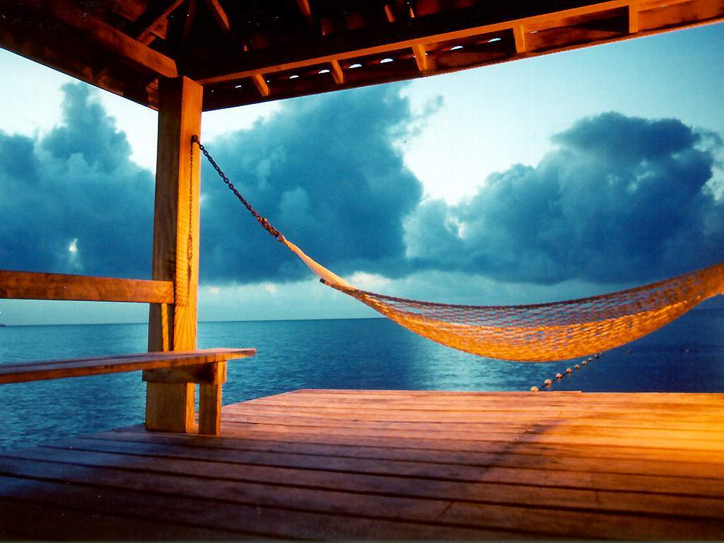 Hammocks on the beach at night - Hammock