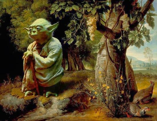 yoda star wars classical painting mashup